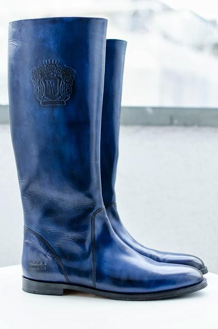 Stiefel-blau-Melvin Hamilton