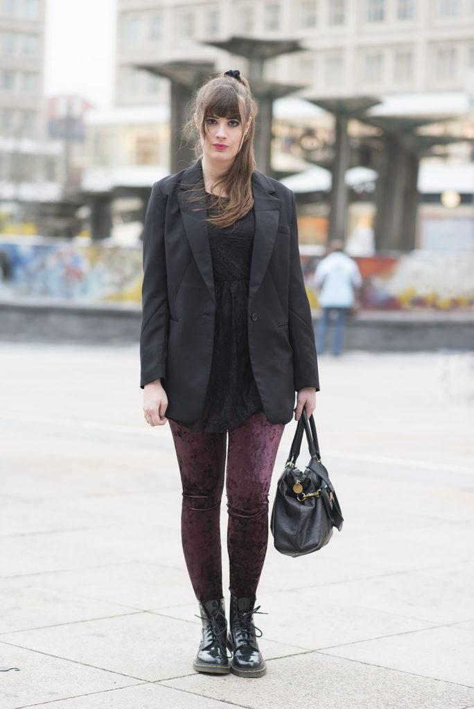 Outfit Velvet Leggings Amp Oversized Blazer Andysparkles De