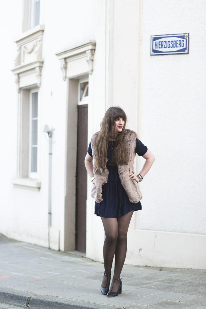 Outfit Coffee Vest Amp Blue Dress Andysparkles De
