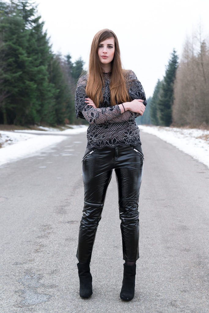 Outfit How To Style Patent Leather Andysparkles De