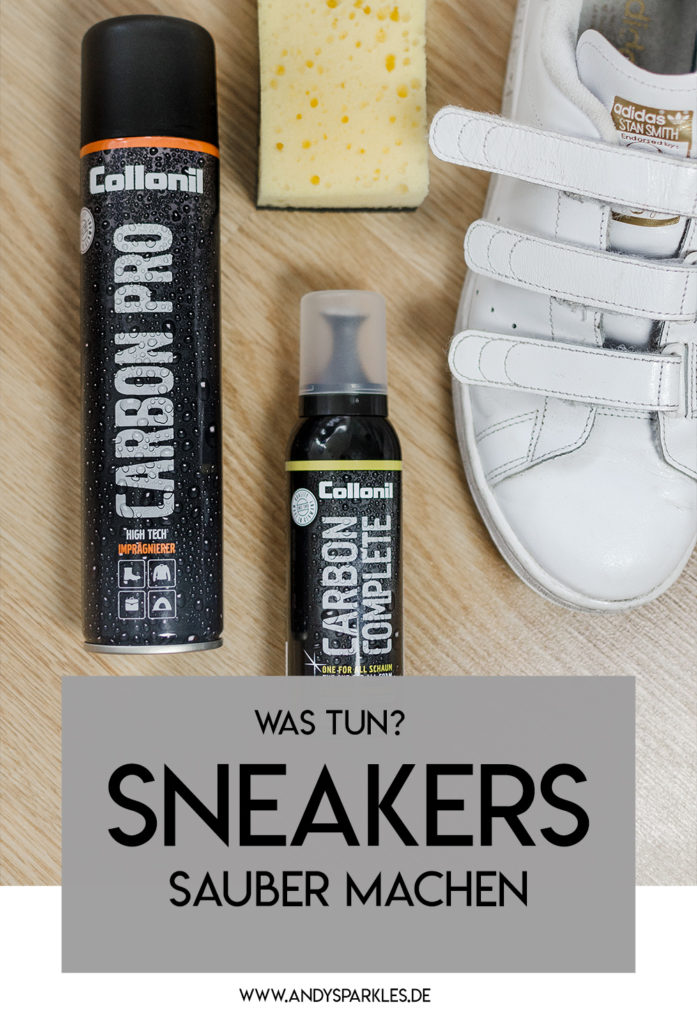 Modeblog-Deutschland-Deutsche-Mode-Mode-Influencer-Andrea-Funk-andysparkles-Berlin-Sneaker-Stan Smith-Collonil-Carbon Pro-Sneakers sauber machen