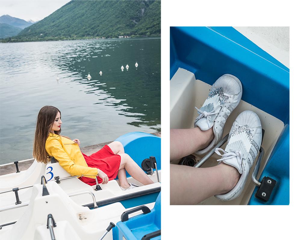 Modeblog-Deutschland-Deutsche-Mode-Mode-Influencer-Andrea-Funk-andysparkles-Berlin-Humana-Kleid-gelbe-Lederjacke-Lago-di-Lugano