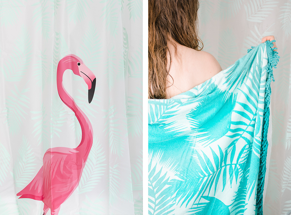 badezimmer-welcome-to-miami-tchibo-flamingo-badetuch