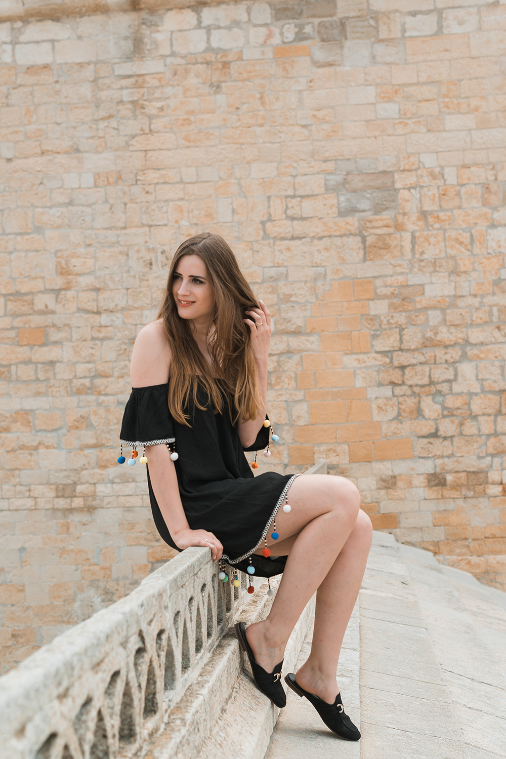 andysparkles-Fashionblogger-Kleid mit Bommeln-Sommer 2017