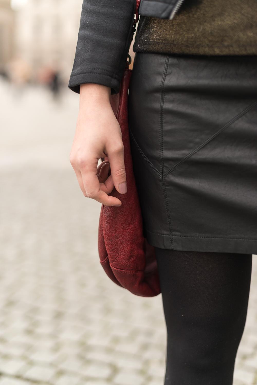 andysparkles-Modeblog Berlin-Baker Boy Mütze-Outfit-Leder Rock