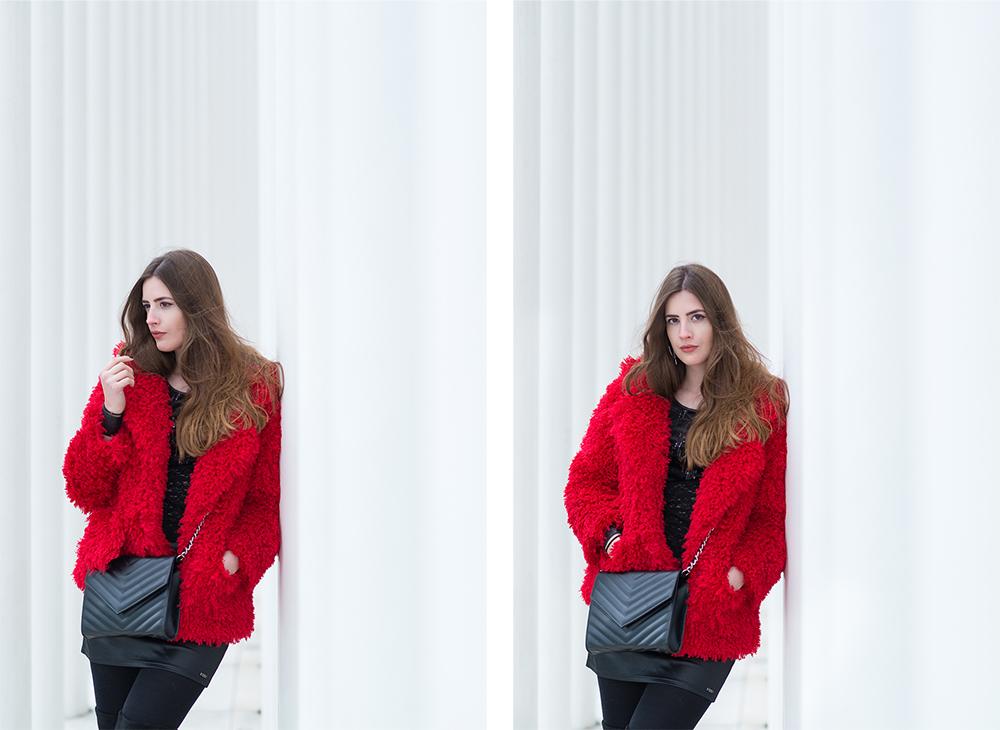 andysparkles-Trendfarbe Rot im Winter kombinieren-rote Felljacke