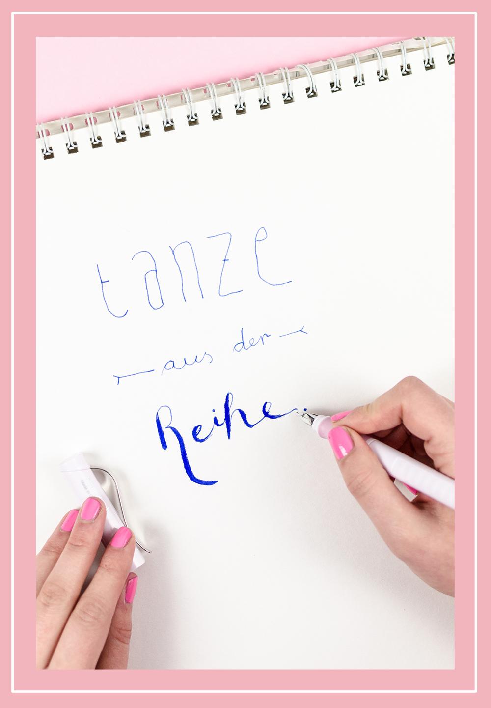 andysparkles-Einsteigertipps für Handlettering-Schneider Schreibgeräte-Base rose