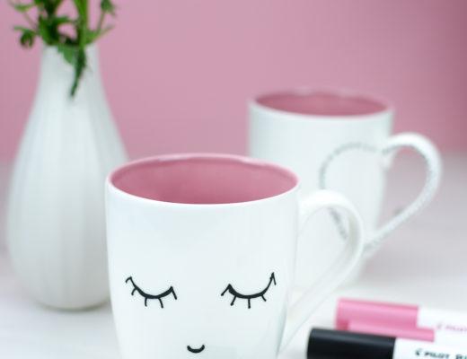 Kaffeetassen bemalen-DIY Porzellan-DIY Tasse-PINTOR Kreativmarker-Pilot Stifte-andysparkles