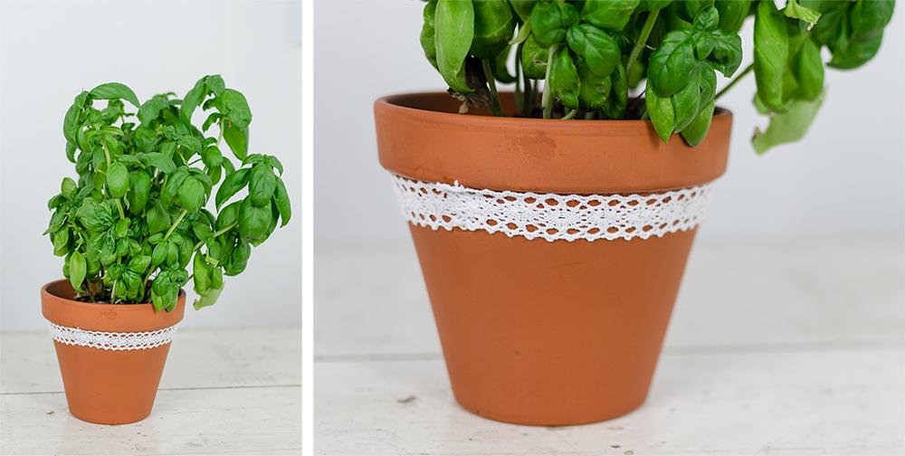 Küchendeko DIY-DIY Idee-einfaches DIY-Upcycling-Blumentopf