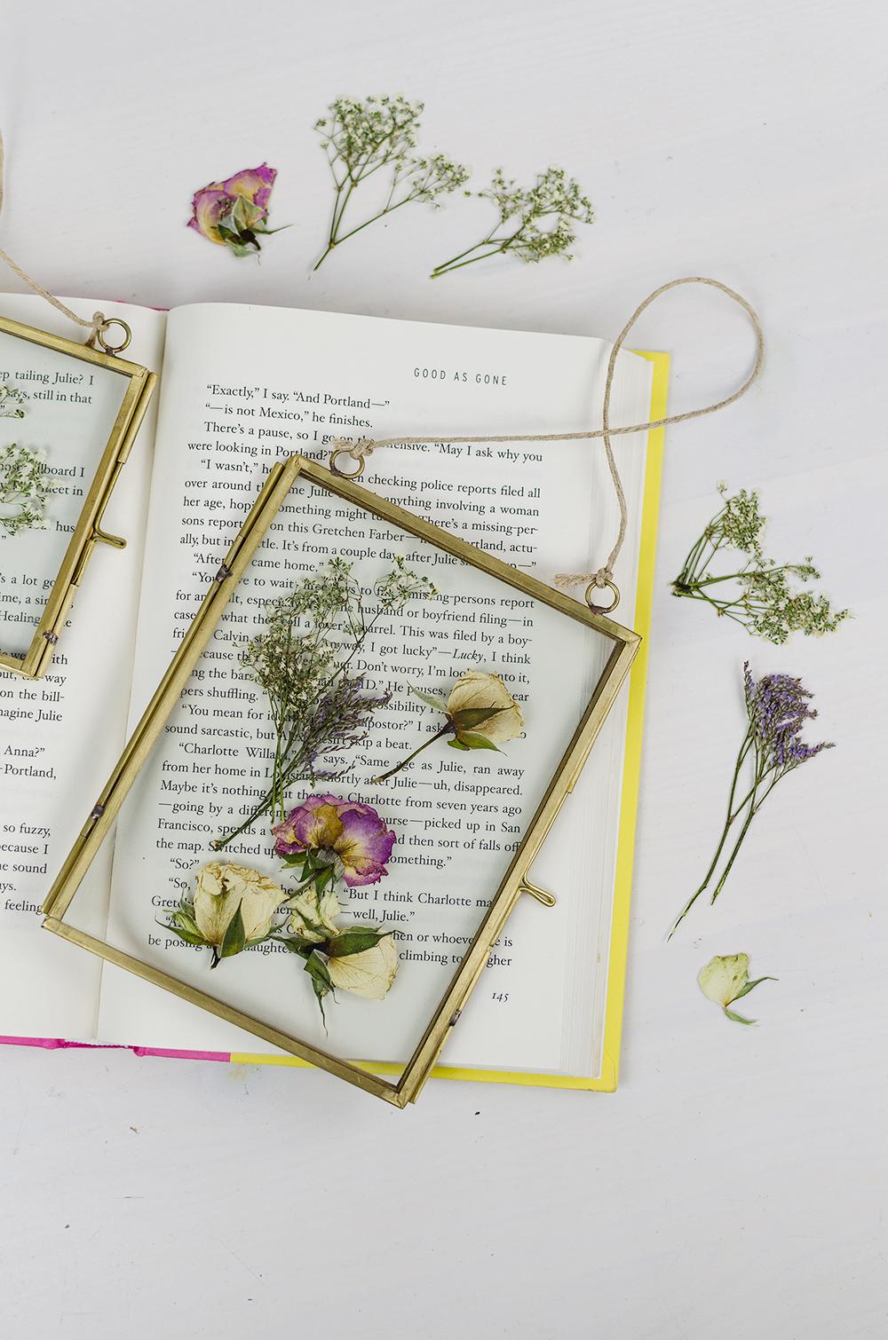 Küchendeko DIY-DIY Idee-einfaches DIY-Blumen pressen