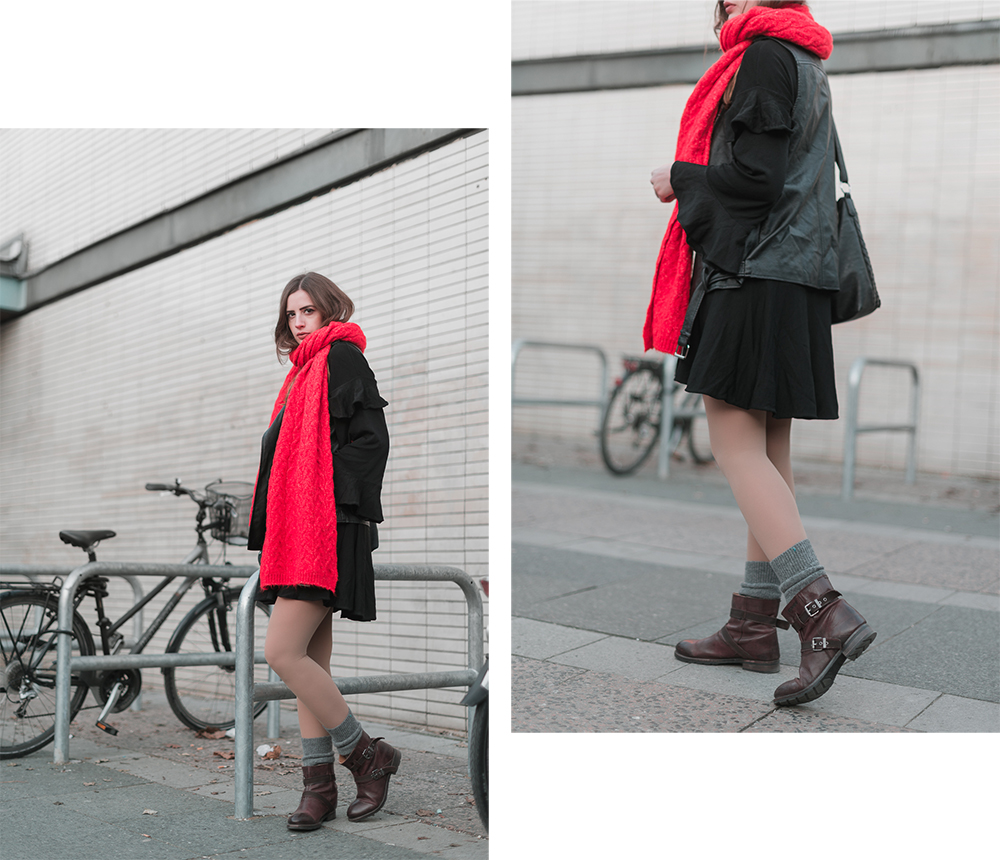 Statement Schal-Outfit mit Schal-Winteroutfit Boots-Modeblog Berlin-andysparkles