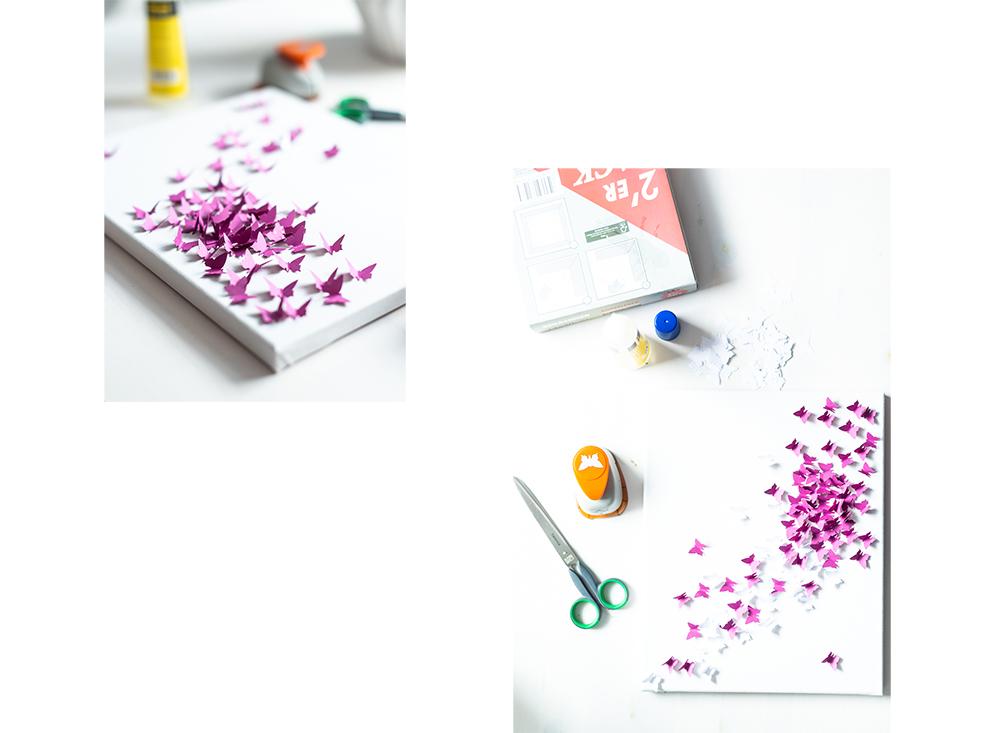 3-D Bild mit Schmetterling-Basteltipp Muttertag-DIY Bild-DIY Blog-andysparkles