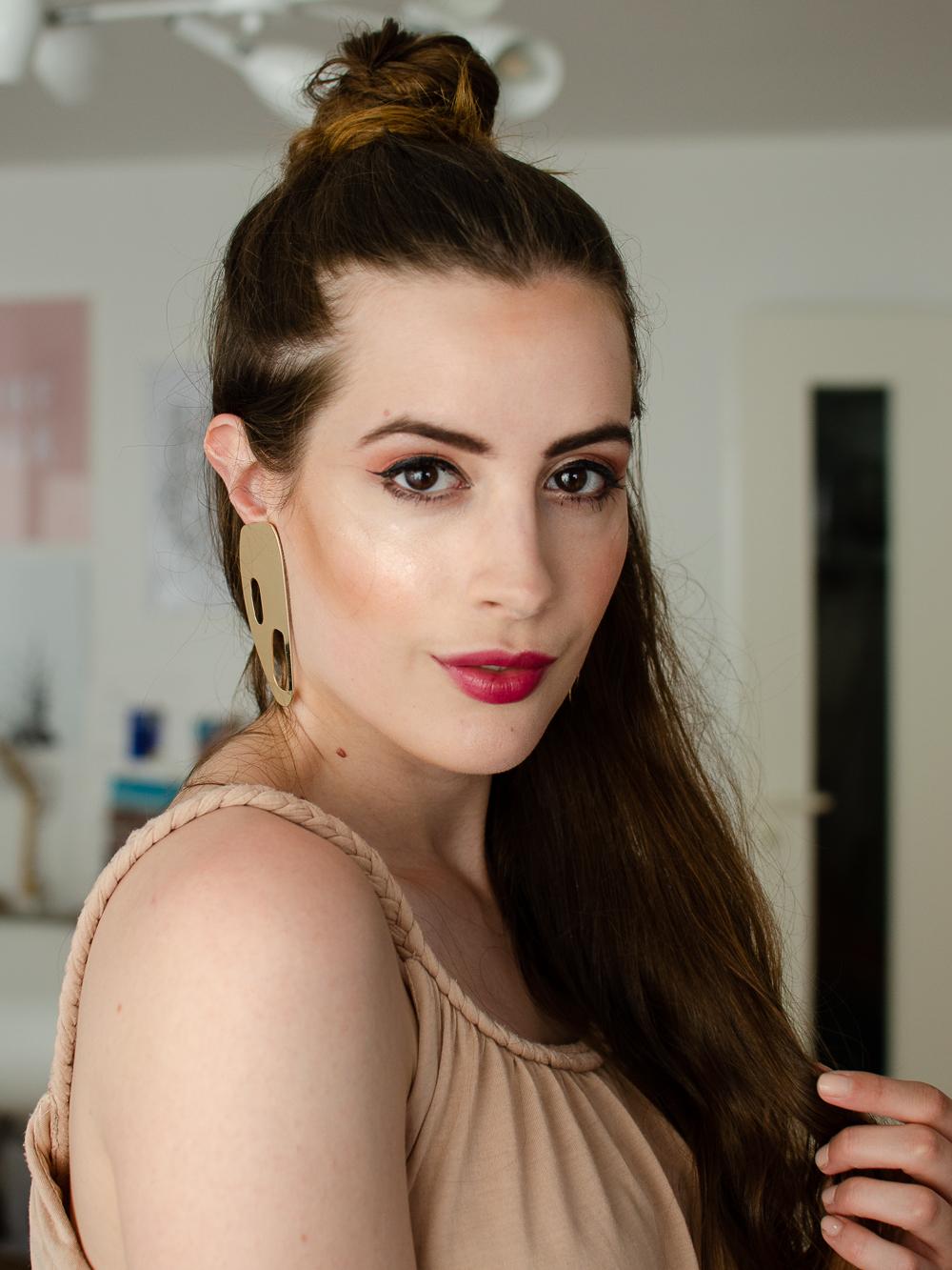 Beauty Frisur Tipp Half Bun Und Sommer Glow Mit Give Away