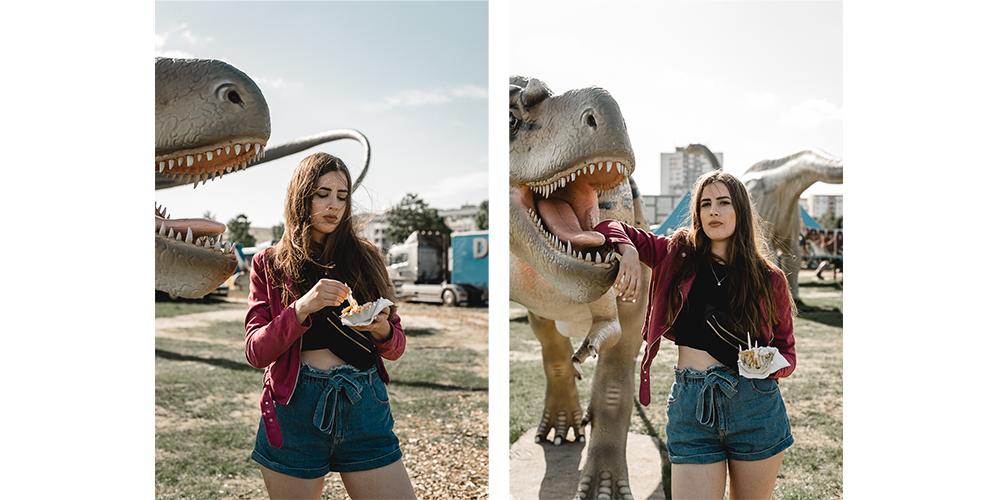 Warum Pendeln die Hölle ist-Freitagspost andysparkles-Dinosaurier Shooting Berlin Lichtenberg
