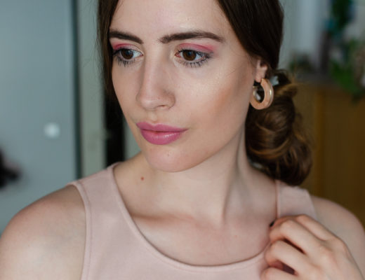 Augen Make-Up in Pink-Mascara von Alcina-Beautyblog-andysparkles