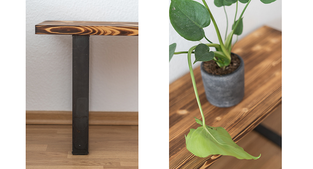 Blumen Deko Trends-Monstera Pflanze-Ziito Holzbank-Interiorblog-andysparkles