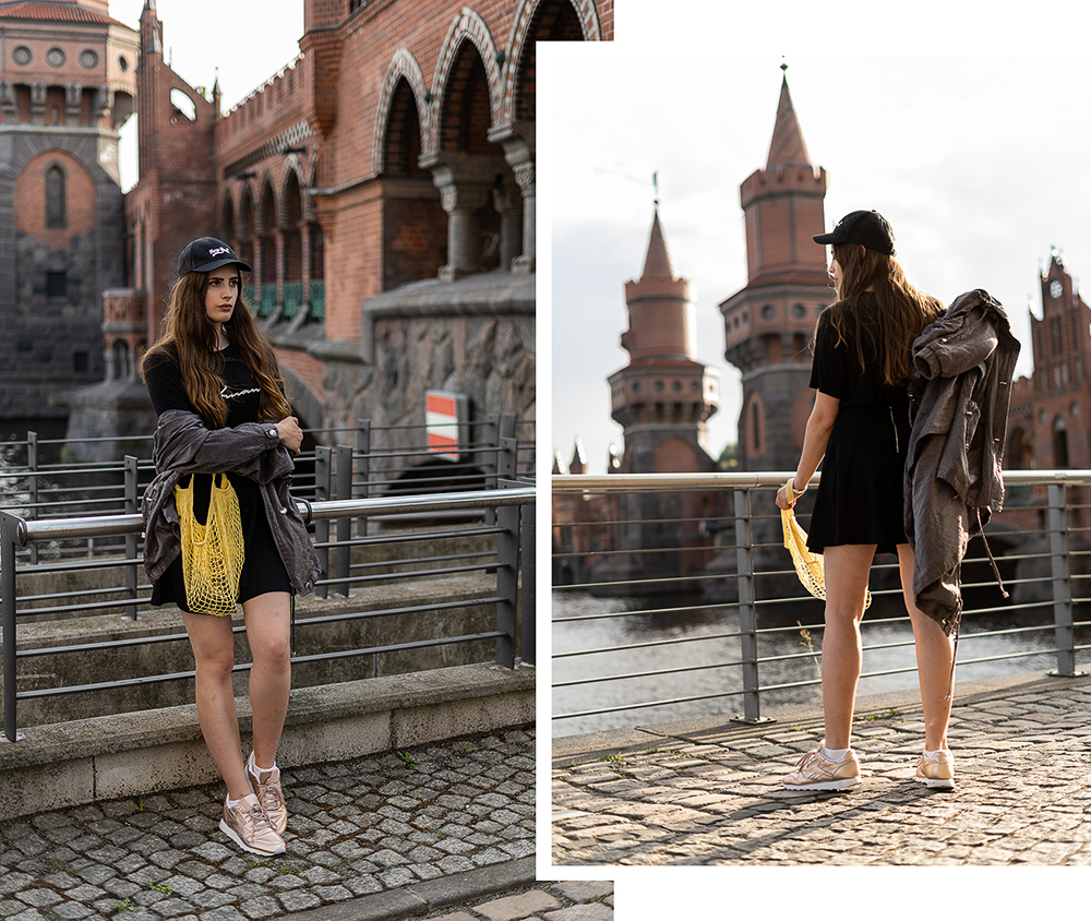 Street Style in Berlin-Modeblog Berlin-Athleisure Trend-Casual Sommer Look-Netztasche Trend-Fashionblog-andysparkles