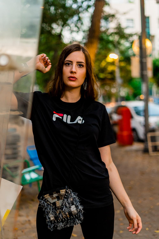 Radlerhose ist zurück-Verrückte Modetrends 2018-Fila Shirt-Chunky Sneaker-Nike Air Max 95-Modeblog-Tel Aviv-andysparkles