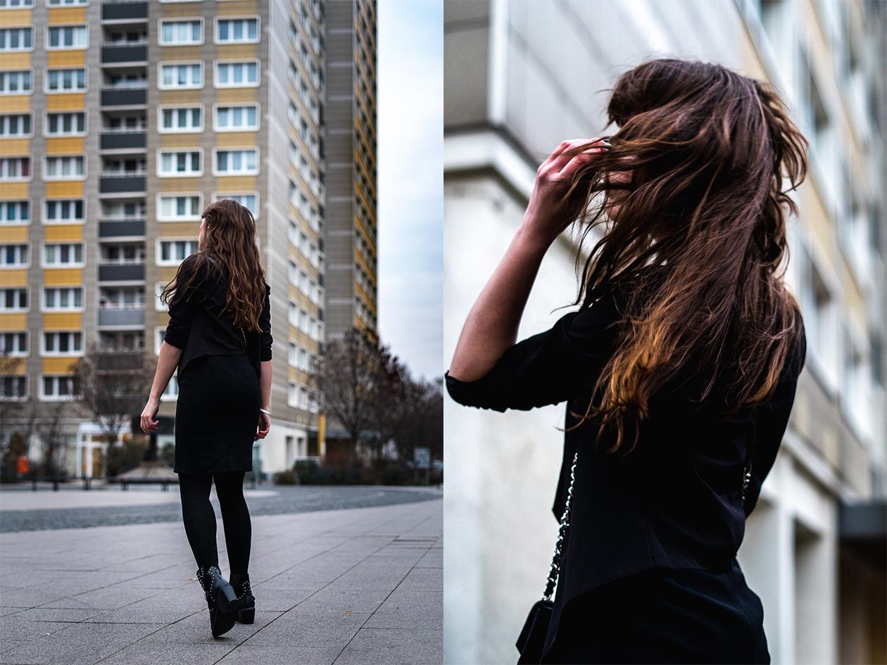 Winteroutfit mit Kleid - Boots im Januar tragen - Cocktailkleid mit Boots - Winteroutfit Modeblog 2019 - Modeblog Berlin - andysparkles