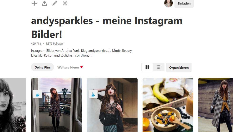 Verbinde Instagram mit Pinterest-IFTTT Pinterest-Instagram automatisch auf Pinterest-Blogger Tipps-andysparkles