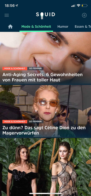 Squid - Nachrichten App