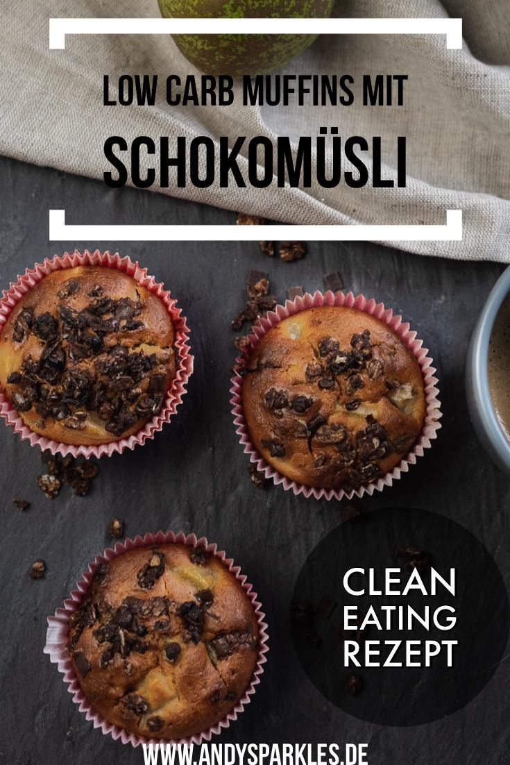 Low Carb Muffins mit Schokomüsli