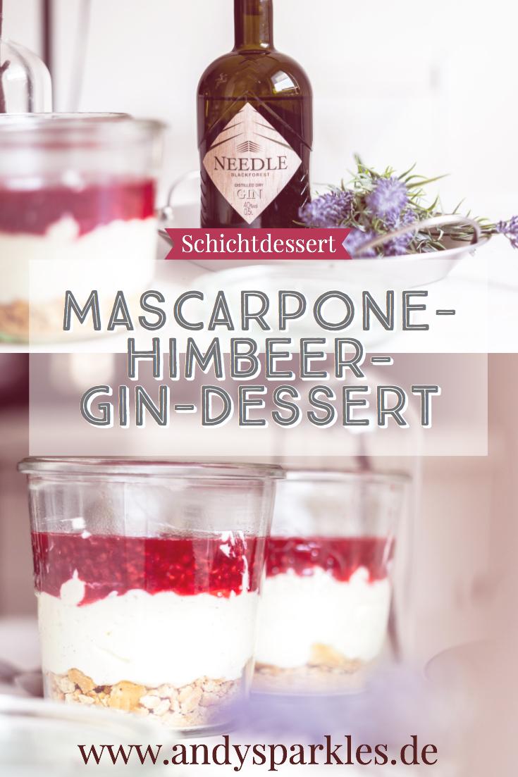 Mascarpone-Himbeer-Gin Dessert mit Needle Gin