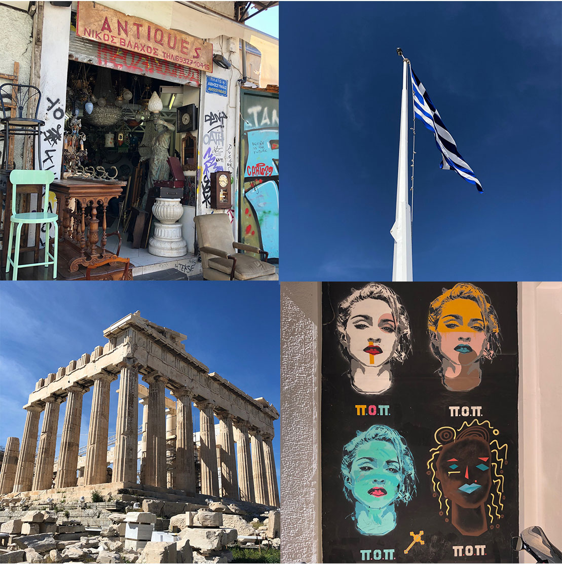 Sonne in Athen