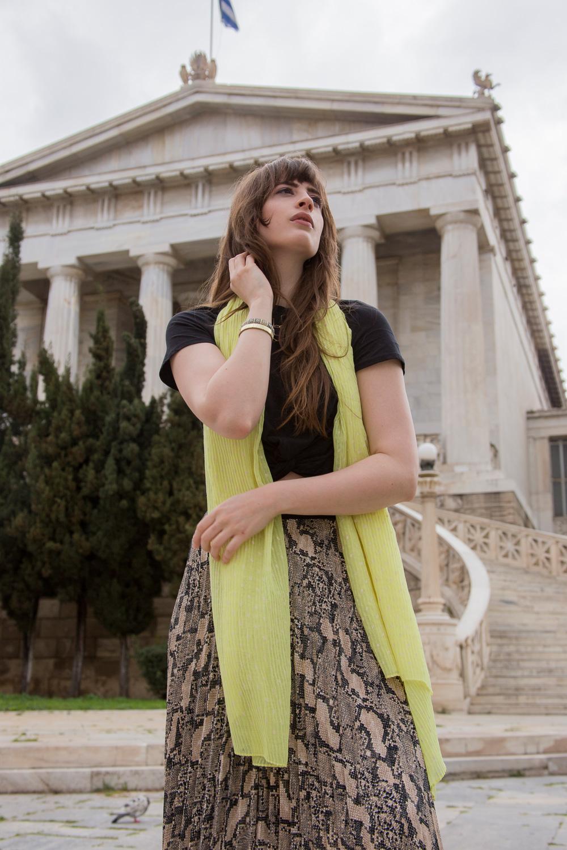 Portraitaufnahme Modeblogger in Athen