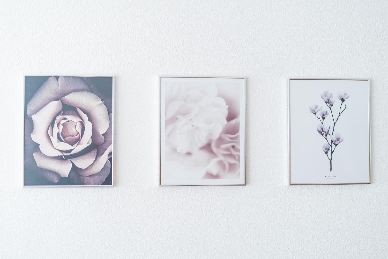 Blumen Poster dreifach