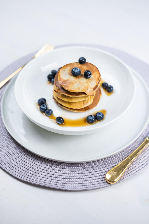 Quinoa Blaubeeren Pancakes
