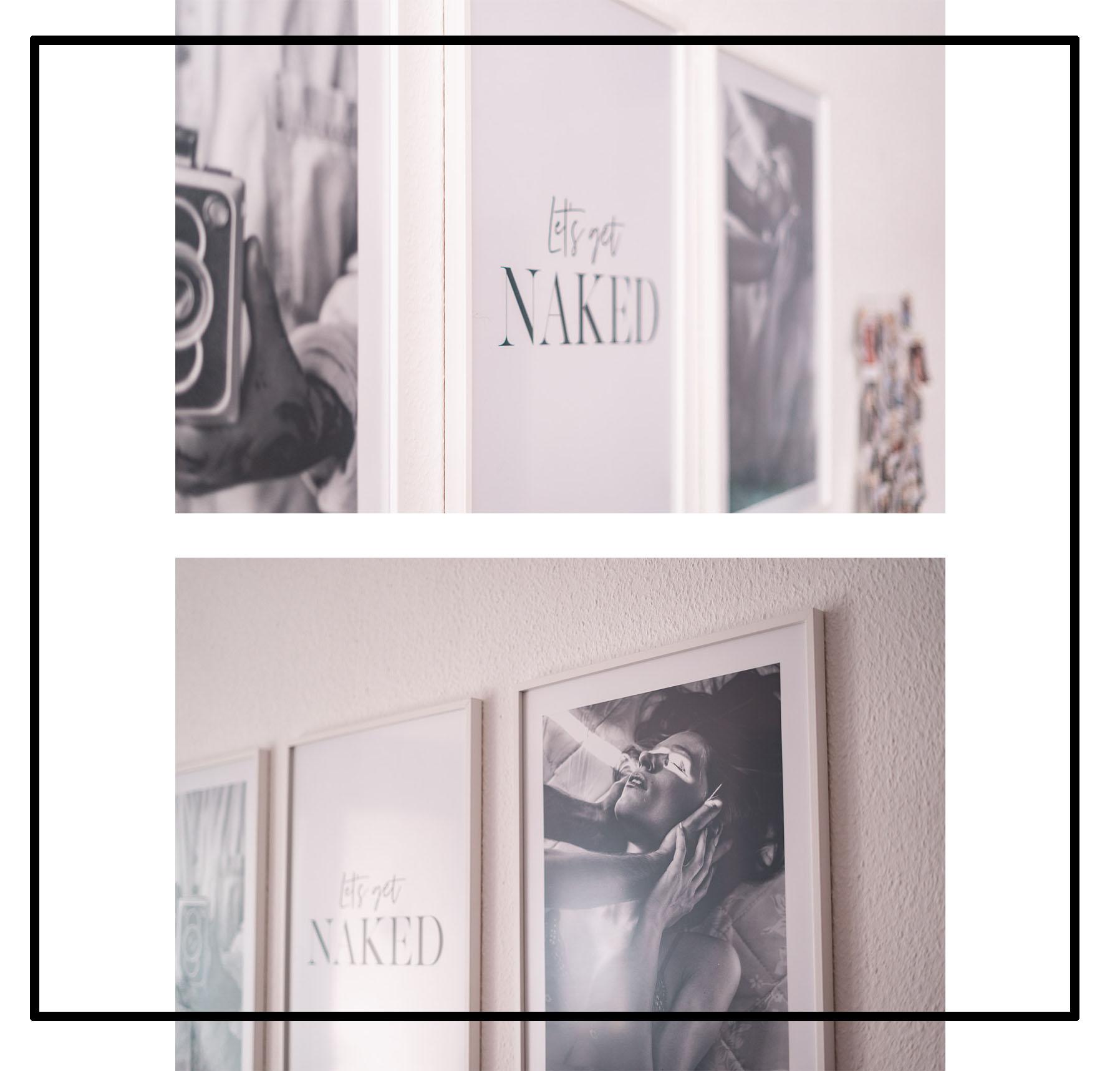 Schwarz weiß dekorieren mit Postern