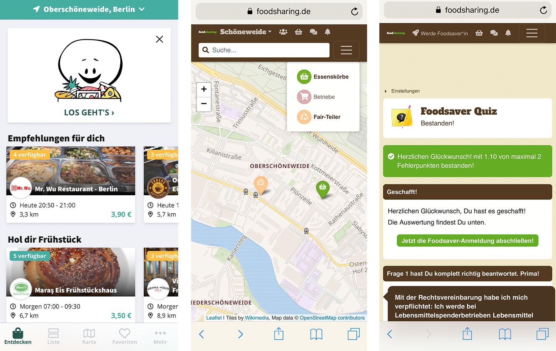 Foodsharing und Zero-Waste-Apps