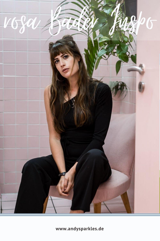 Rosa Deko im Badezimmer