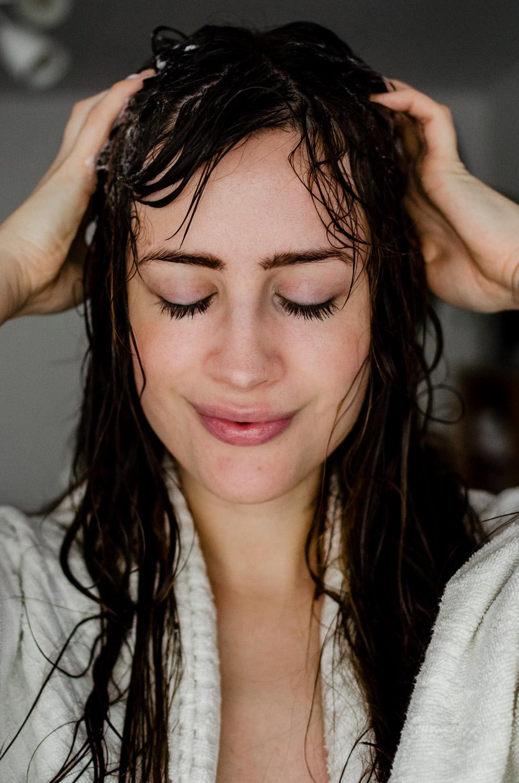 Anwendung Solidshampoo