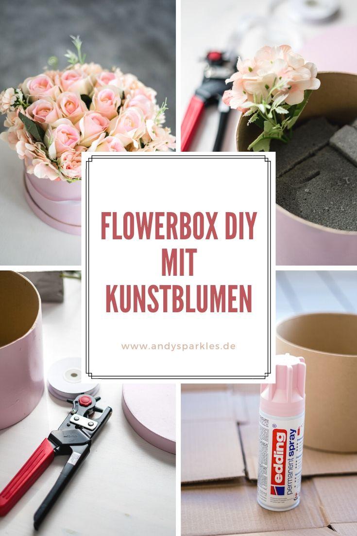 Flowerbox DIY mit Kunstblumen