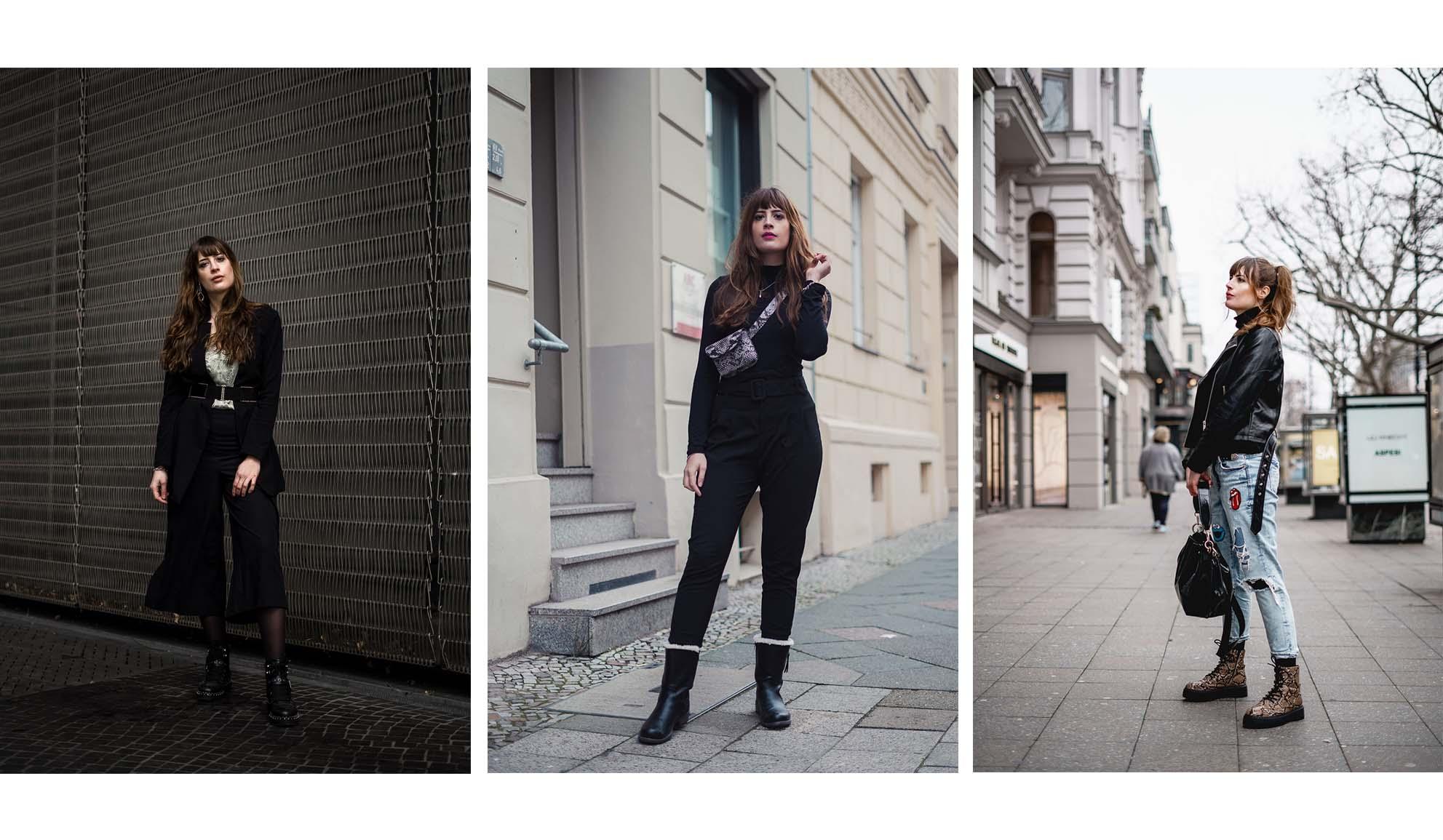3 Ideen für schwarze Outfits