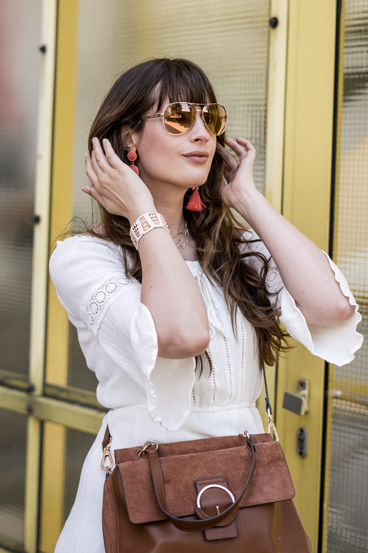weißes Kleid Sommeroutfit