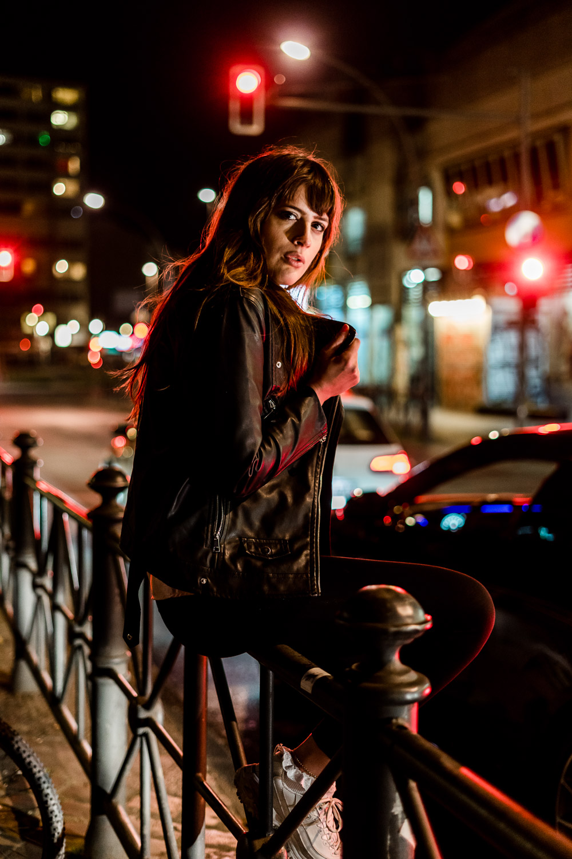 Portraitshooting bei Nacht