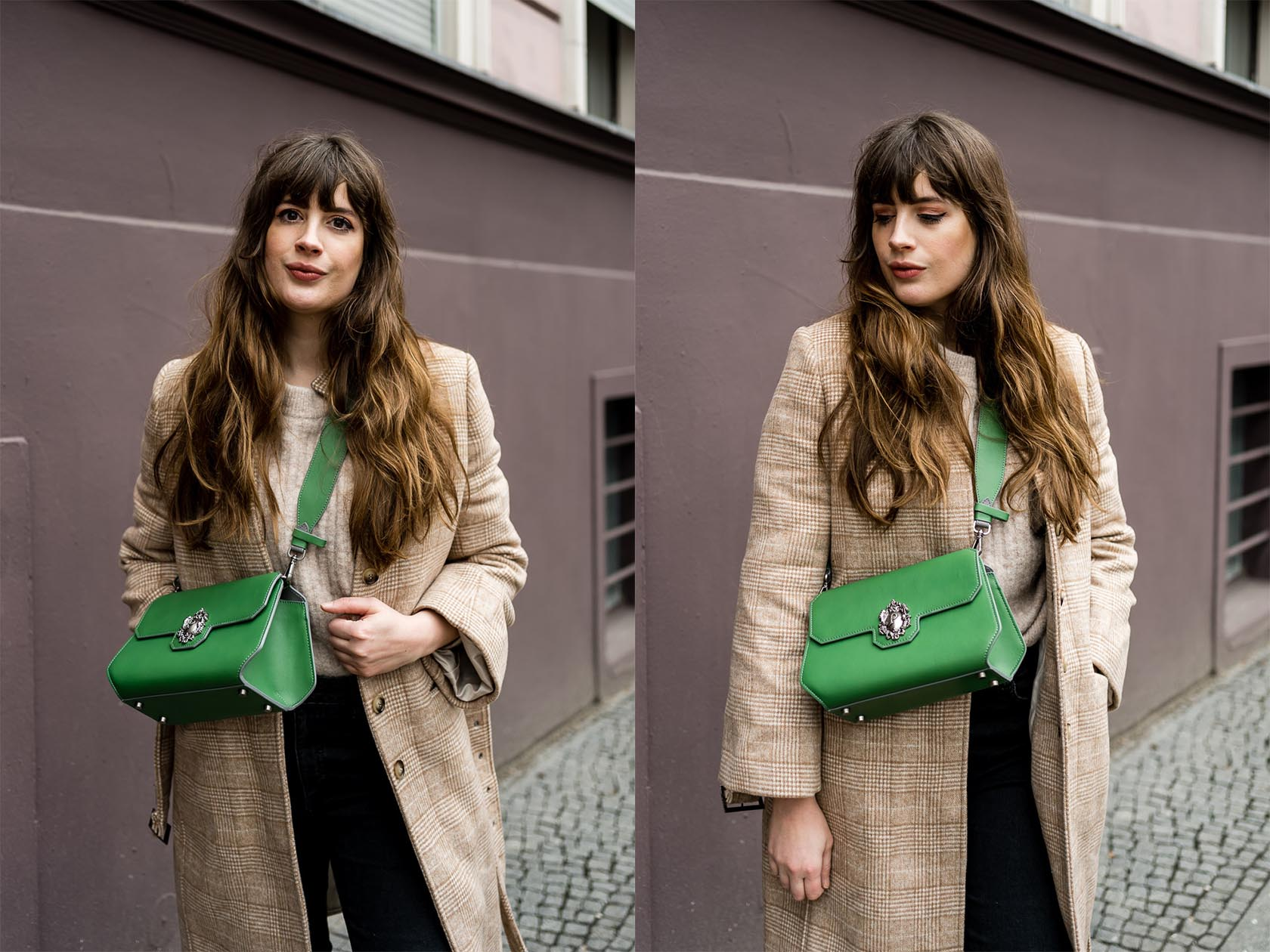 Casual Outfit mit Camel Coat