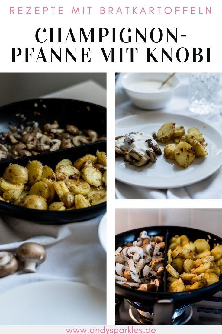 Champignonpfanne mit Knobi-Sauce