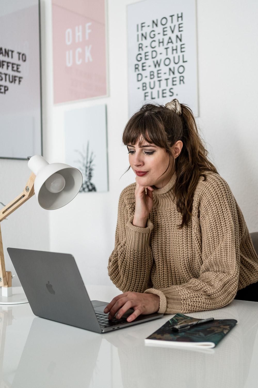 Blogger am Arbeiten