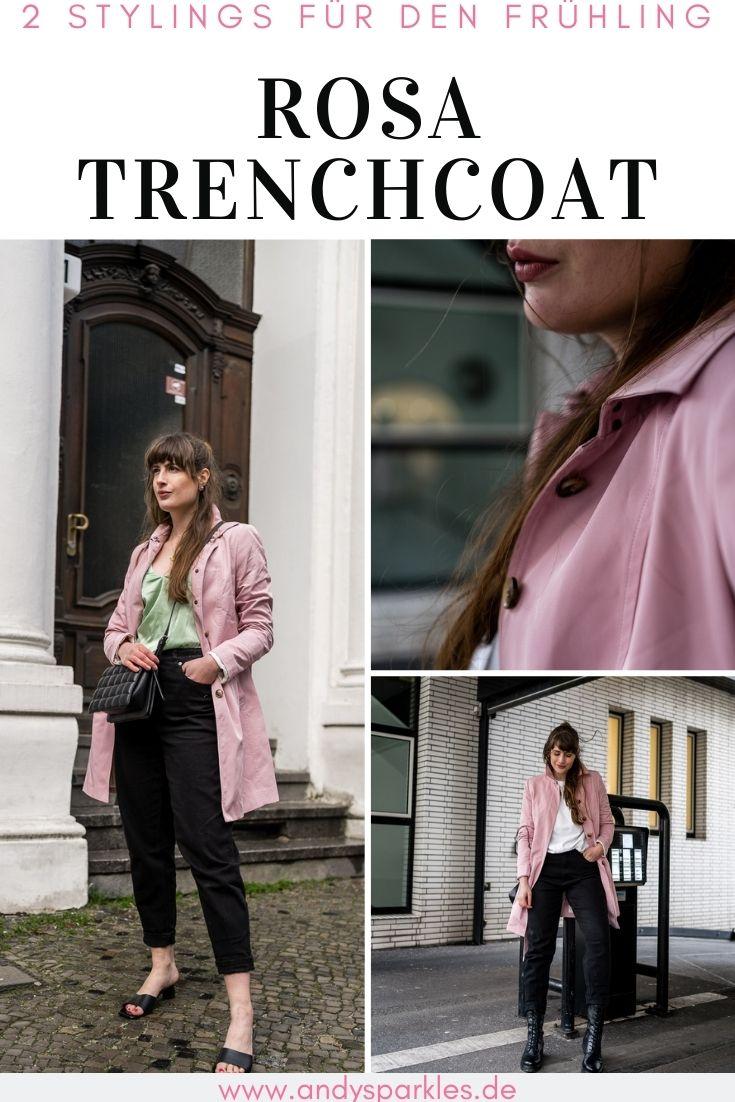 Rosa Trenchcoat für Aprilwetter