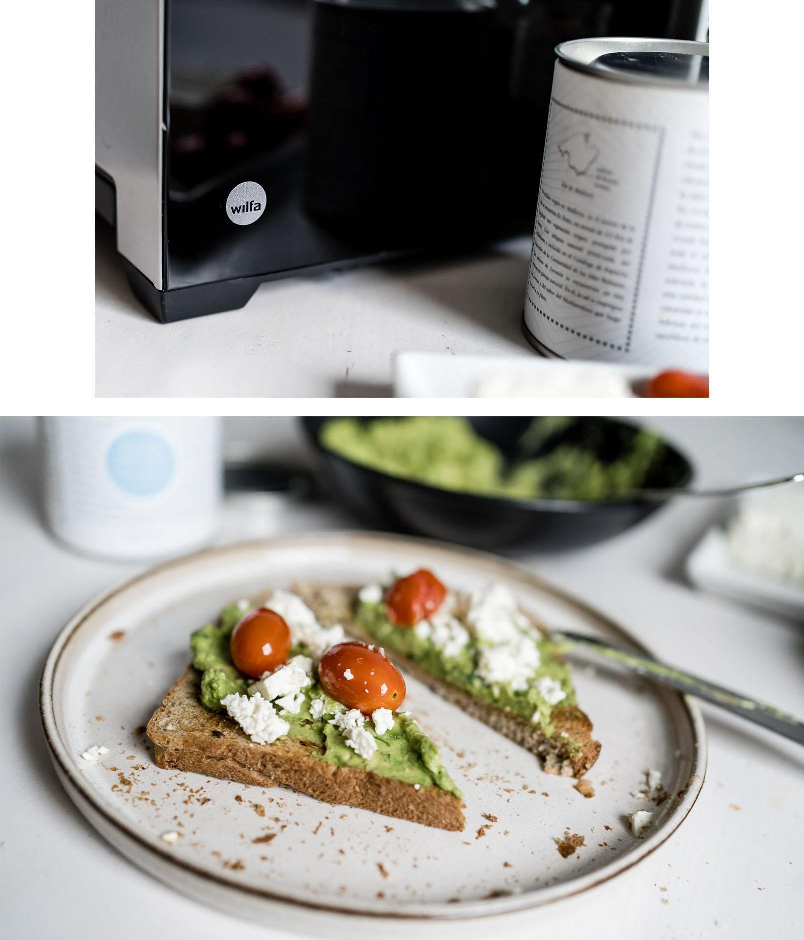 Gesundes Frühstück mit Toast