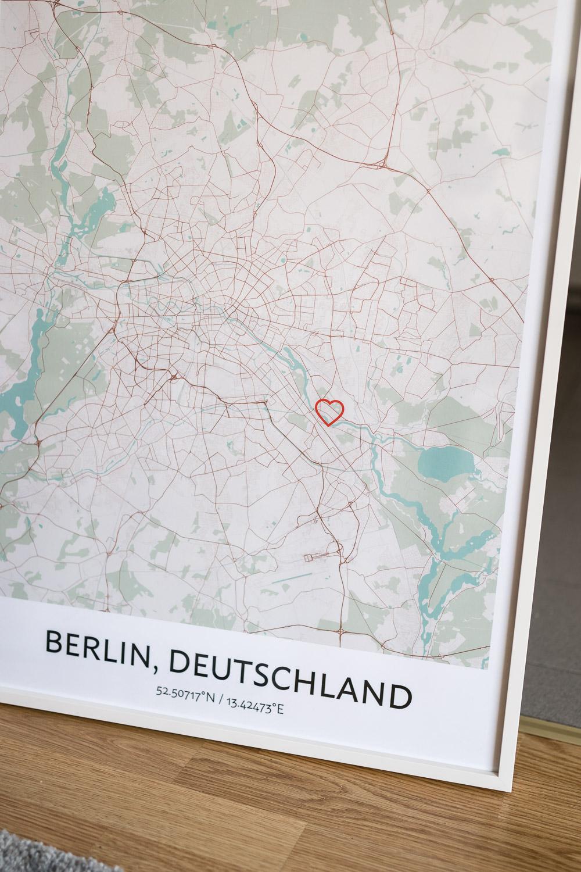ein Stadtplan Poster selbst gestalten