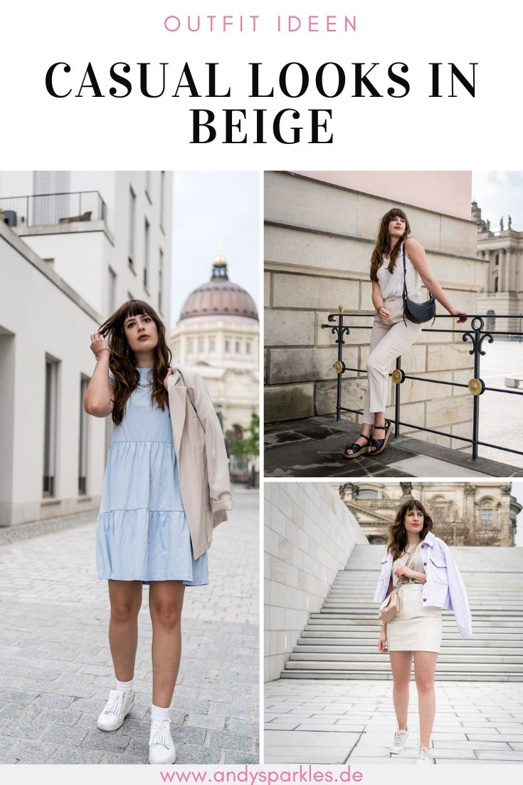 3 Casual Outfit Ideen in Beige